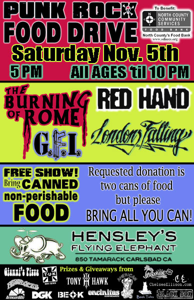 Londons Falling @ Hensley's Flying Elephant - Carlsbad, CA Nov 5th